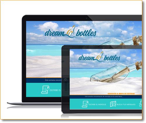 Diseño y Consultoria Landing Page DreamBottles