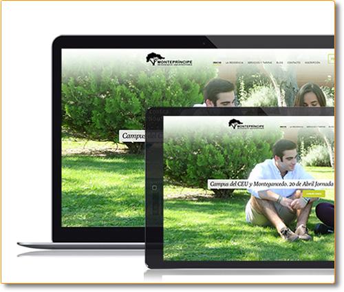 Diseño y Desarrollo Website Residencia Montepríncipe