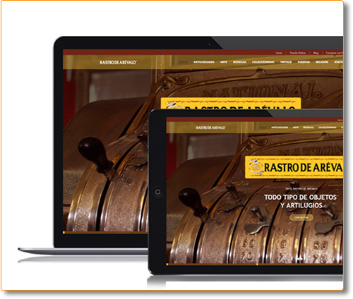 Website Rastro de Arévalo