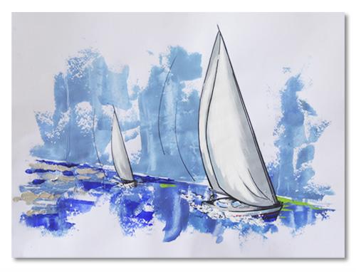 Bocetos Veleros Navegando