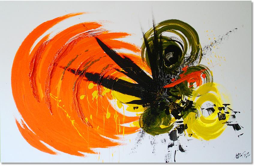 Energía; acrílico sobre lienzo