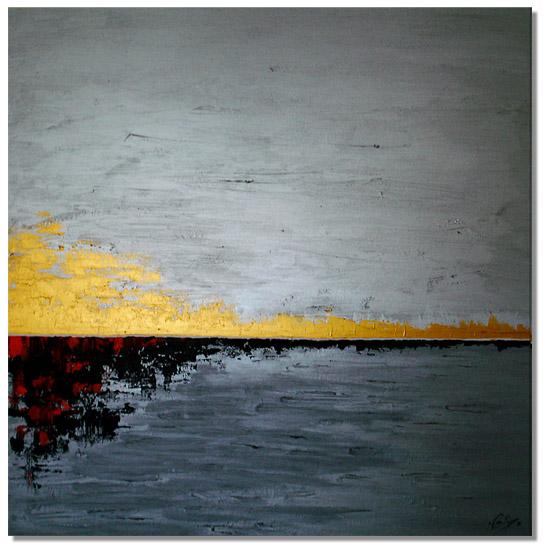 Horizonte I; pintura acrílica sobre lienzo