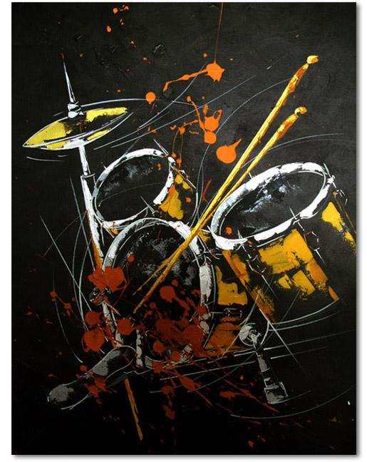 Música I; acrílico sobre lienzo