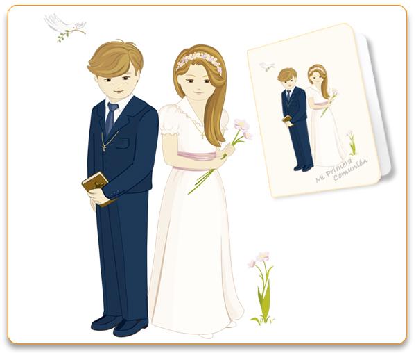 Ejemplo tarjeta personalizada de Primera Comunión