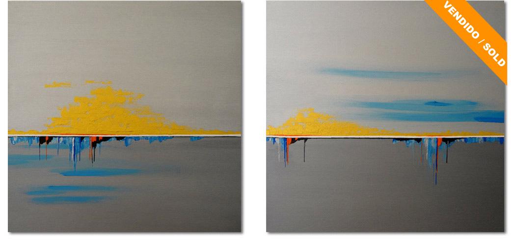 Horizontes II; pintura acrílica sobre lienzo